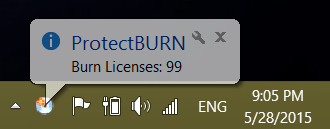 Protect burn license count