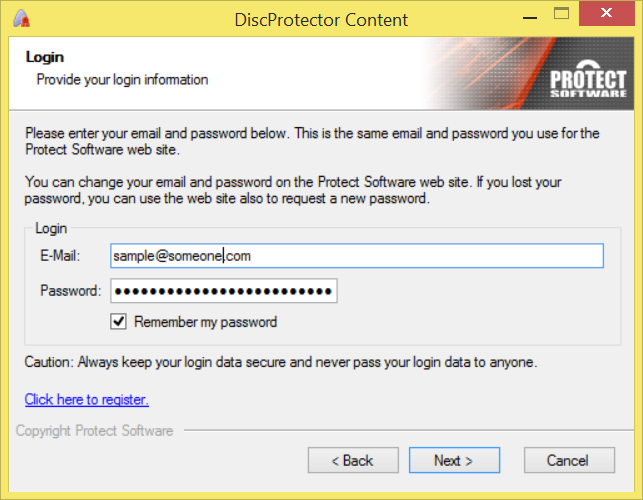 protect burn disc protector login